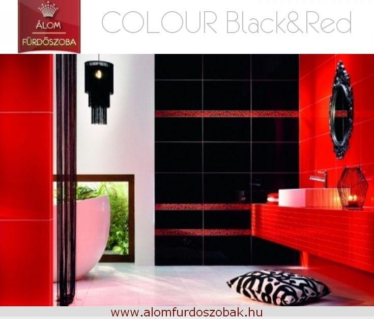 ♥ Colour Black&Red kollekció ♥ Árkategória: Kiváló ár/érték arány ☺ További info, akciós árak itt: http://alomfurdoszobak.hu/hu/content/4-kapcsolat