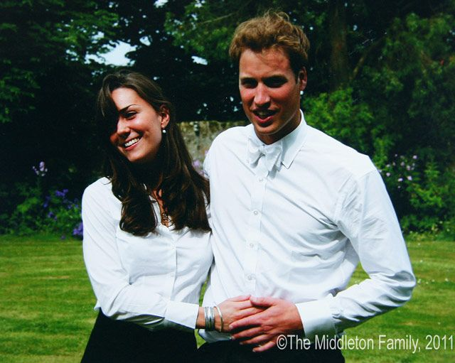 She and her then-boyfriend Prince William beamed after their graduation ceremony at St. Andrew's. 2005