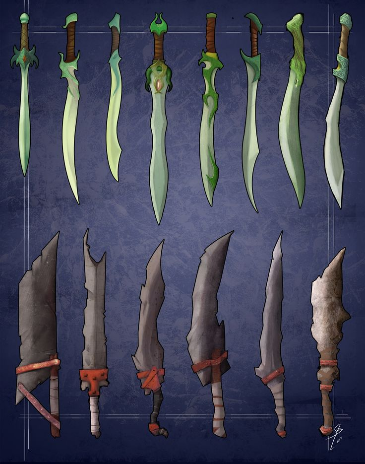 some elvish and orcs swords concepts