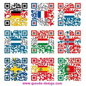 QR code into country flags