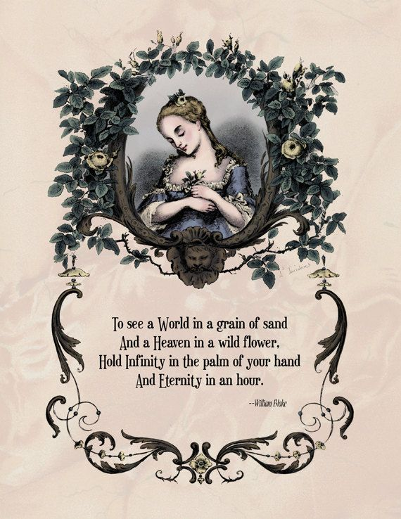 Blake  Victorian Art Poetry Print  To See a World in by Shakoriel, $9.00