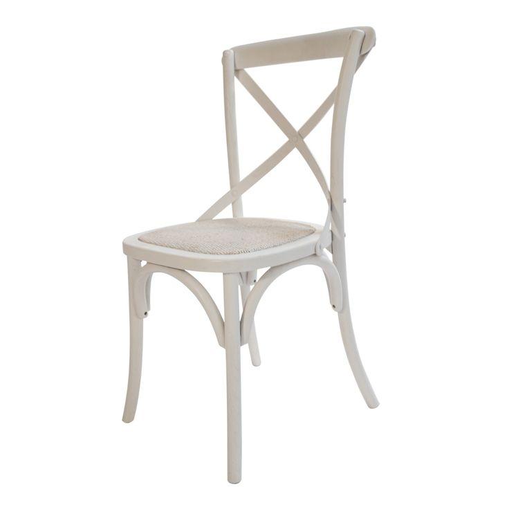 Questa elegante sedia renderà la vostra sala da pranzo o la vostra cucina ancora più di classe: le linee intrecciate e le curve creano un disegno sinuoso e delicato. Inoltre la comodità è assicurata grazie al cuscino incorporato, a seduta intrecciata.