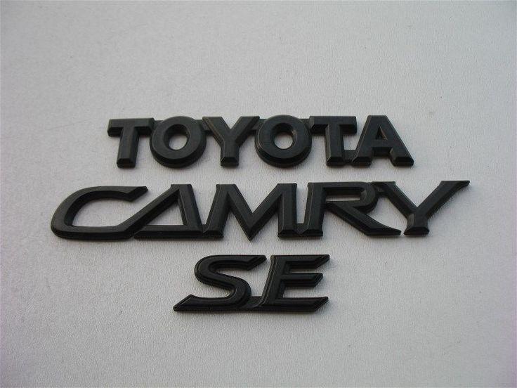 02 03 04 05 06 TOYOTA CAMRY SE REAR GATE TRUNK LID BLACK EMBLEM LOGO BADGE SIGN