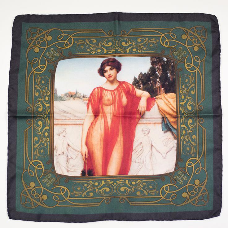 Athenais pocket square #prerraphaelite #artnouveau #vintage #painting #pocketsquare #menswear #gentleman #hussarsmadrid
