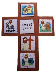 Vida de Jesus en una cruz para niños                                                                                                                                                                                 Más