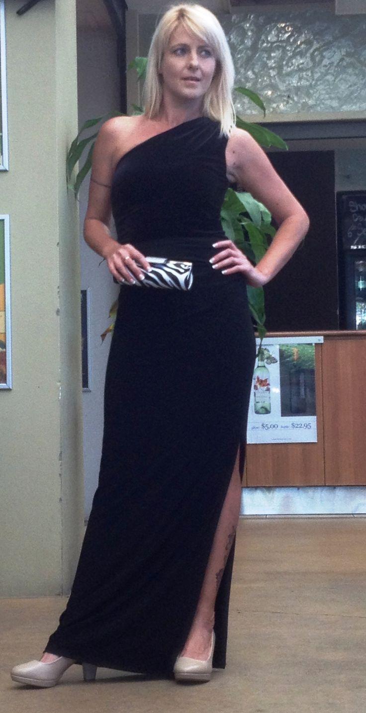 Elegant Ralph Lauren one shoulder dress via urban Outlet, cute print bag from Fashion Me