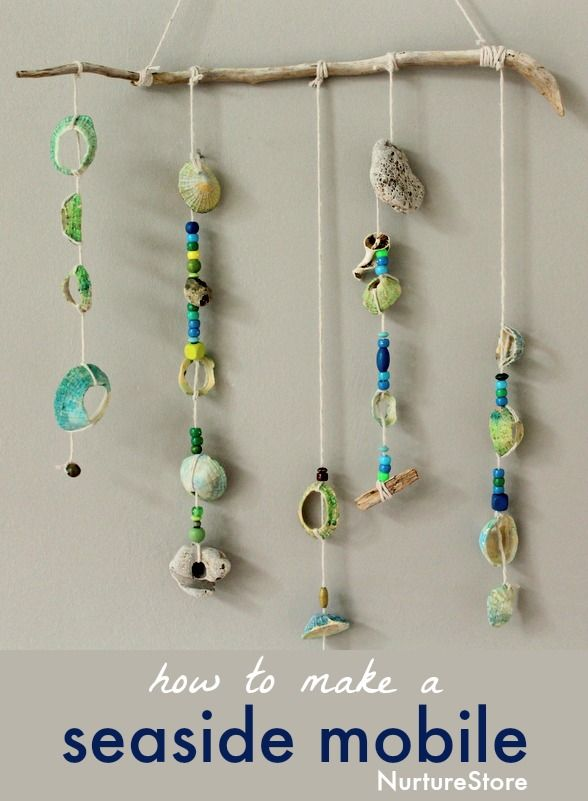 How to make a shell mobile :: a lovely seaside craft for kids
