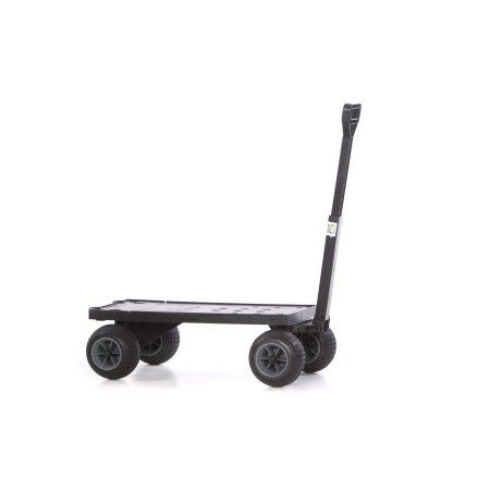 Plus One Flatbed Trolley Cart Moving Dolly Platform Farm Yard Carts and Wagons with 4 Rolling Wheels for Sand Use Indoor or Outdoor as Hand Pull Wagon for Hauling Cooler or Beach Gear