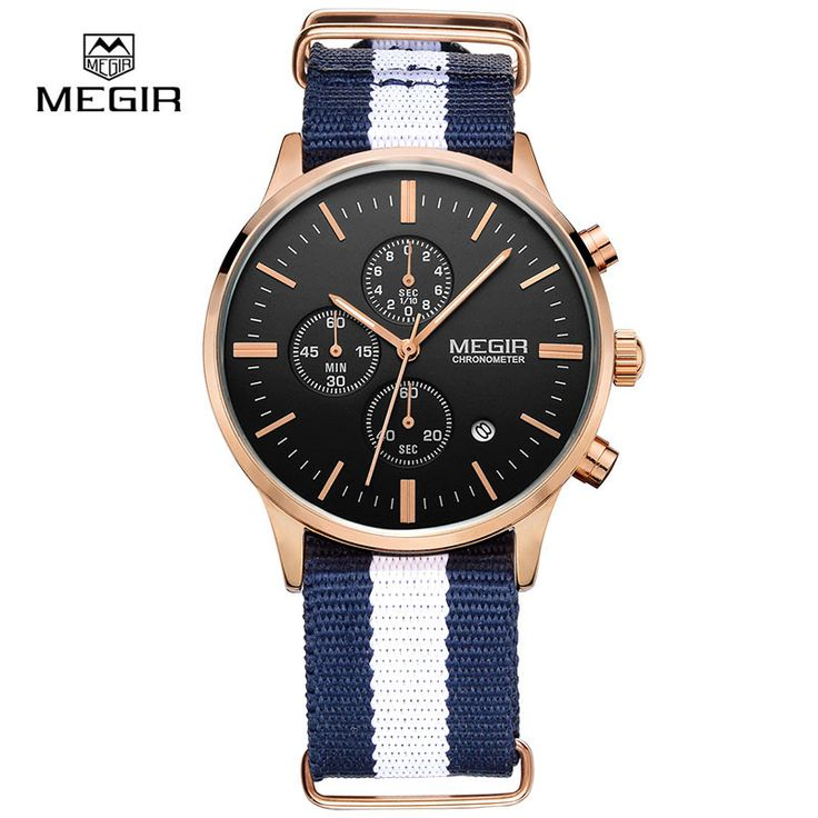 Megir Men Chronograph Watch Men's Watch Top Brand Luxury Date Quartz-Watch Casual Sport Men Wrist watch relogio masculino 2011-1