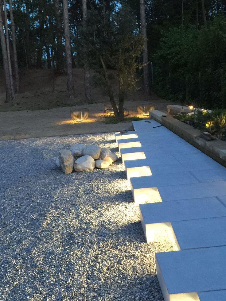 camminamento cemento sera
