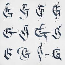 Resultado de imagen para calligraphy cadel letters