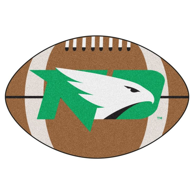 NCAA 20.5 x 32.5 in. Football Rug, North Dakota Fighting Hawks