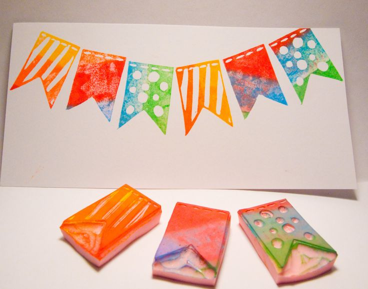 Bunting Flags Stamp Set Trio