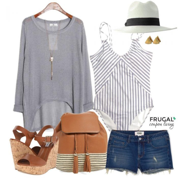 Frugal Fashion Friday Summer Pool Outfit on Frugal Coupon Living. Summer Outfit of the Day. Ways to dress up a bathing suit. OOTD.
