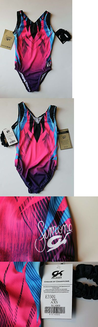 Youth 159170: Gk Elite Gymnastics Leotard Simone Biles Midnight Magic Adult Xsmall Axs Nwt! -> BUY IT NOW ONLY: $42.95 on eBay!