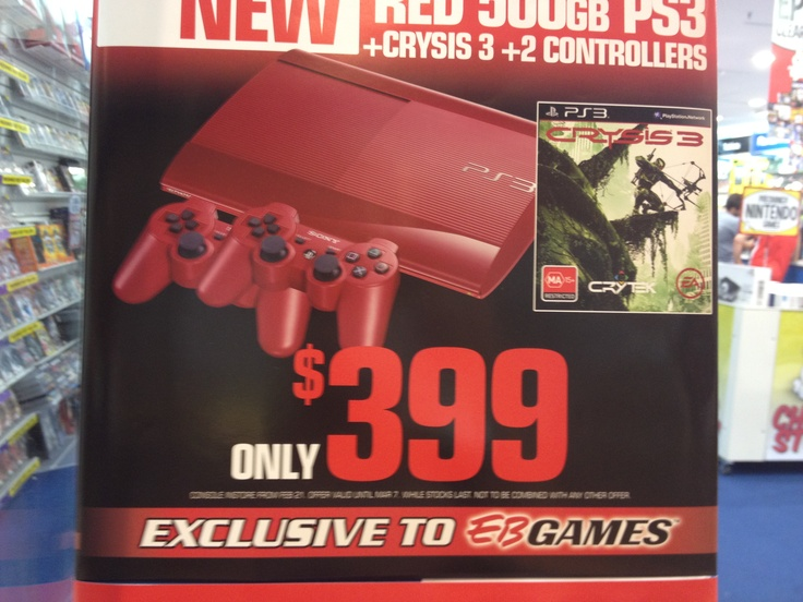 Jenny, PS3 Red, EB Games, $399.00