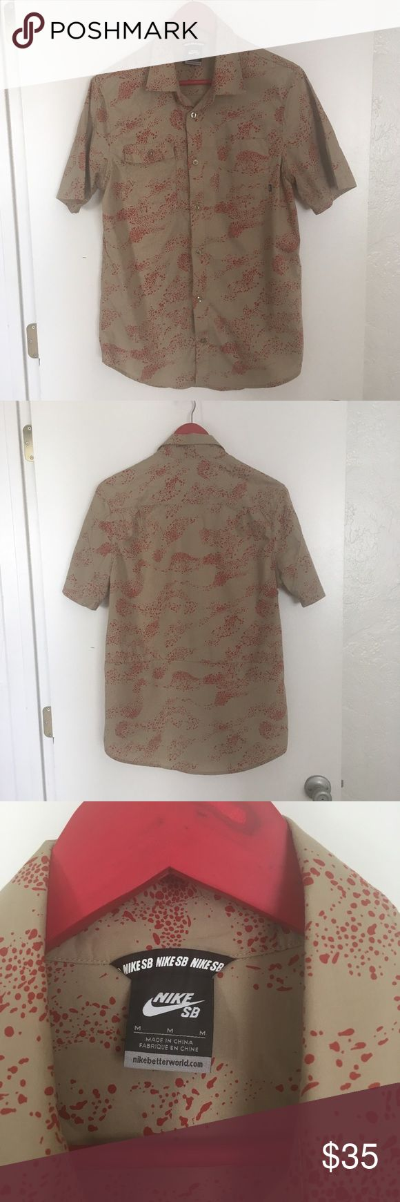 NIKE SB button up Rare edition Freddy Krueger short sleeve button up. Size Medium Nike Shirts Casual Button Down Shirts
