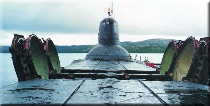 Soviet Russian Typhoon Class Ballistic Missile Submarine