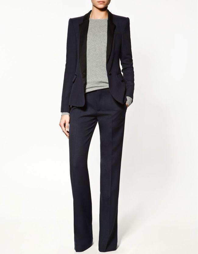 les 25 meilleures id es concernant tailleur femme zara sur pinterest tailleur pantalon femme. Black Bedroom Furniture Sets. Home Design Ideas