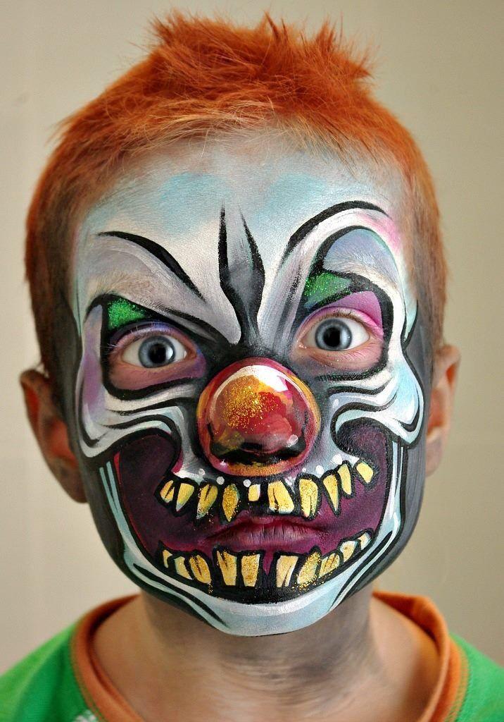 scarey clown masken schminken halloween. Black Bedroom Furniture Sets. Home Design Ideas