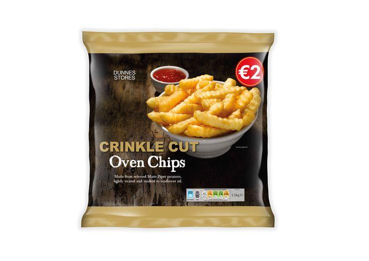 Dunnes Stores Crinkle Oven Chips -Frozen  designed by Mesh Design