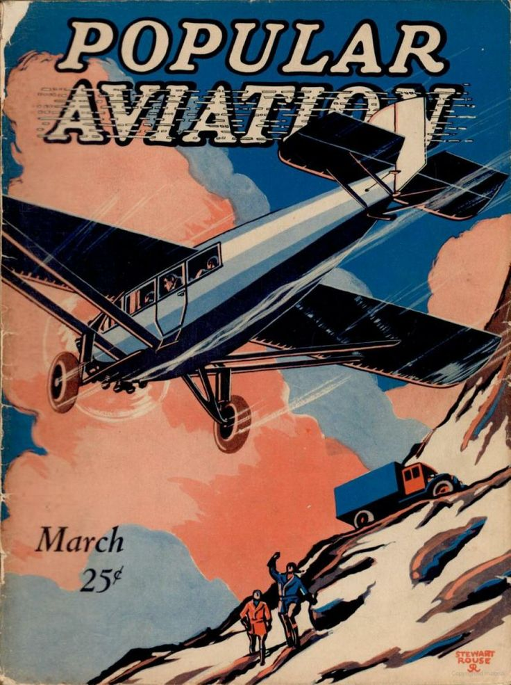 Flying Magazine's March 1928 Cover #vintage #aviation #flying