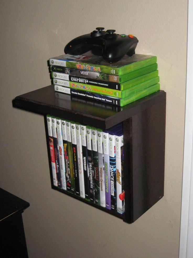 i made 4 of these for video game and controller storage