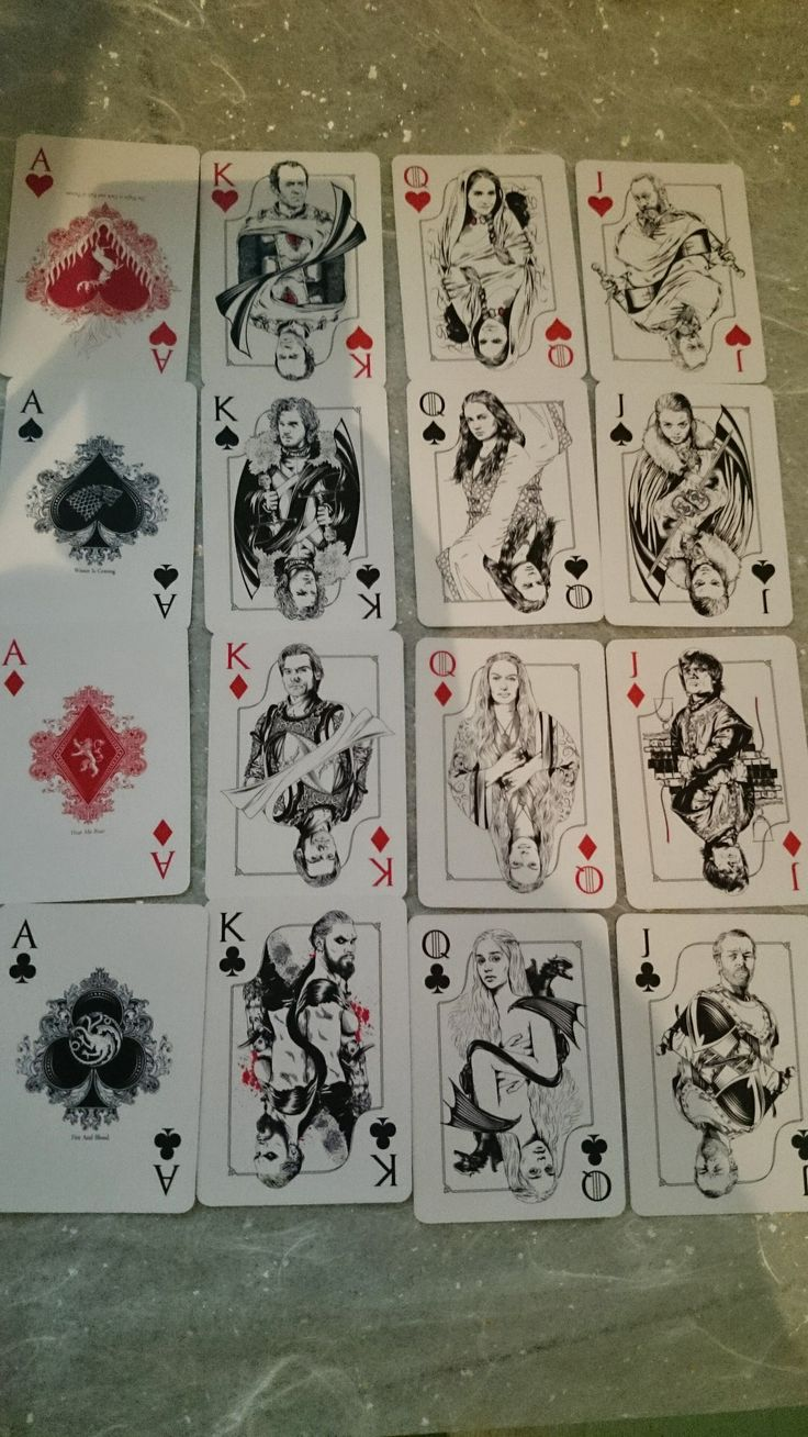Game of Thrones playing cards from my awesome secret Santa! - Imgur