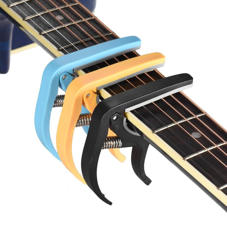 Single-handed Guitar Capo Quick Change Capo with Pin Puller Sales Online black - Tomtop
