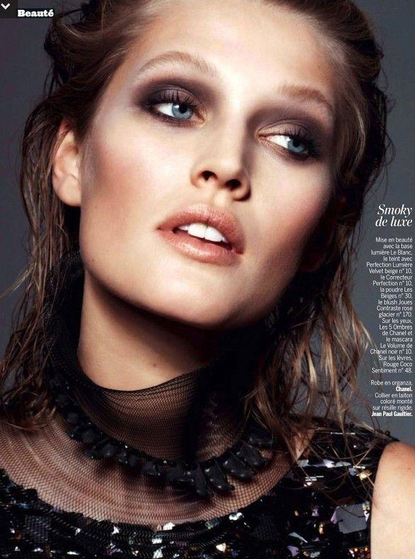 Stunning smokey eye shot by Philip Gay for L'Express Styles
