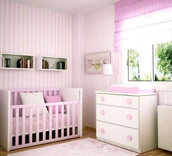 Habitación de bebé: Fotos de ideas de decoración - Decoración de habitación de bebé en tonos lilas