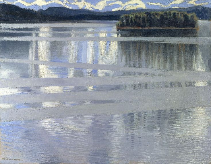 Lake Keitele - Akseli Gallen-Kallela, 1905, National Gallery, London. (Also at Landscape Symbolist show at Van Gogh Museum in 2012).