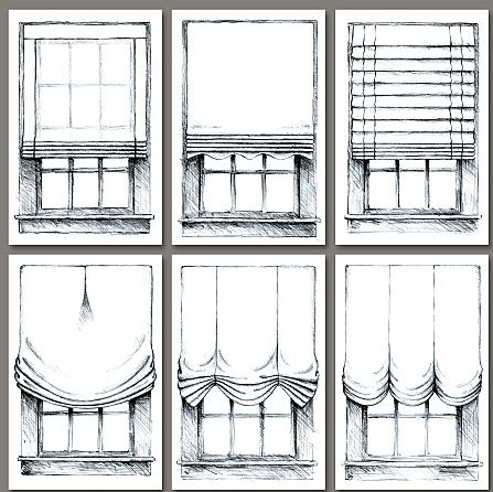 Patterns for window treatments - Maybe its time for me to learn to sew...