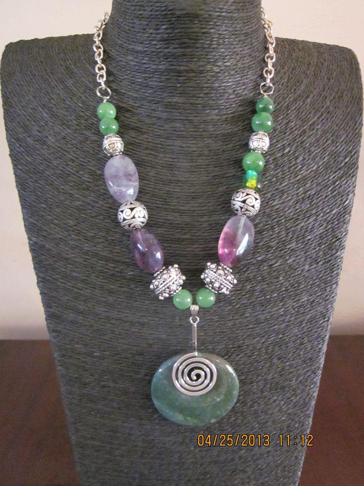 Semi precious fluorite necklace