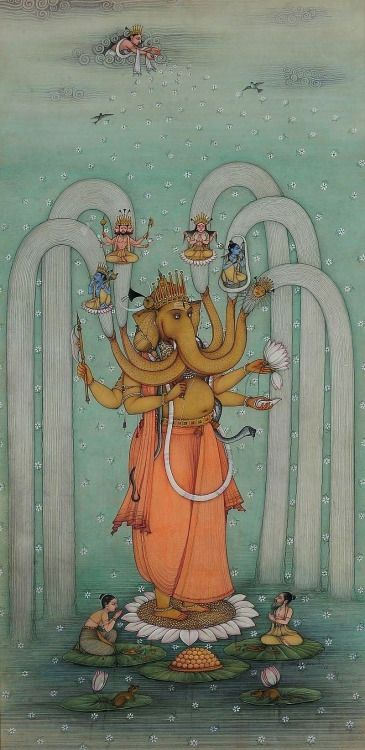 Virat Ganeshji. Artist: Mahaveer Swami, contemporary Bikaner style.