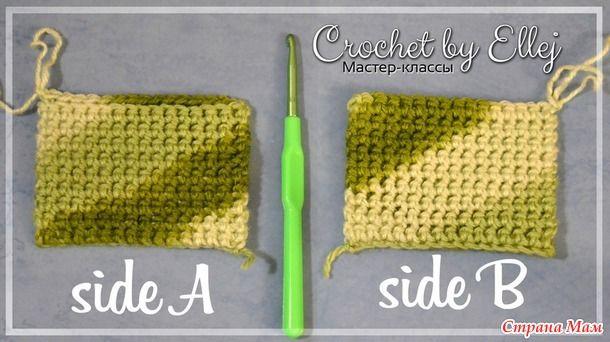 Техника вязания двойного полотна крючком. Фото МК в ролике.
