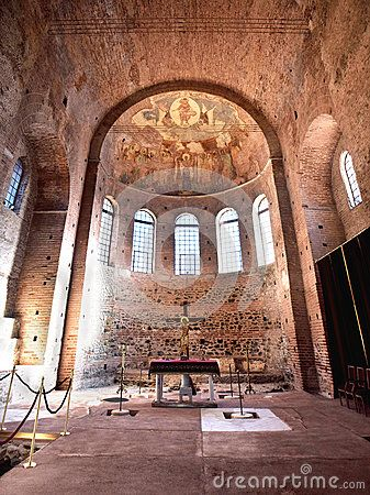 The sanctum of Rotunda. A temple in Thessaloniki that was built in 305 and served the pagan religion, Christianity and Islam. Walking Thessaloniki app, Route 04 - Galerius