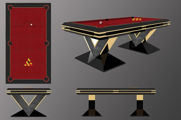 The 'Pharaoh'. Custom Designed and handmade 7ft Pool Table. www.designerbilliards.co.uk