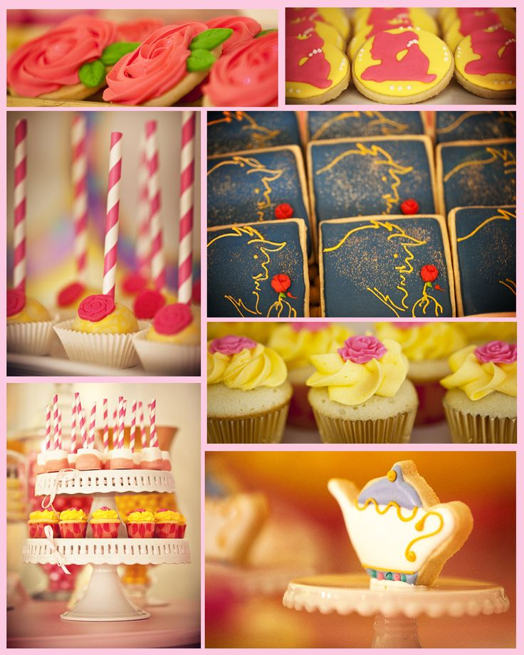 Beauty and the Beast Theme:The desserts