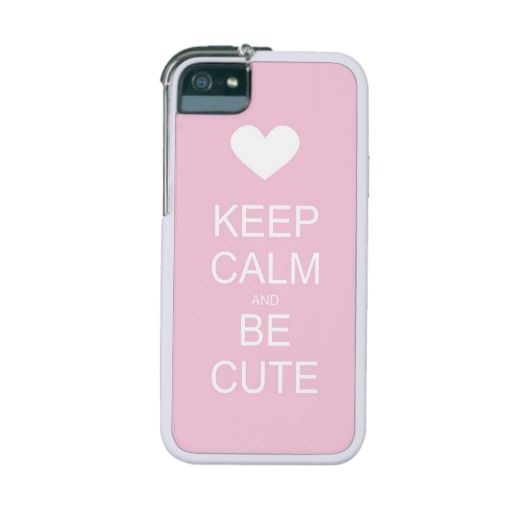 Keep calm and be cute sweet pink iPhone 5 case