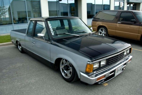 1984 nissan pickup lowrider this may be a lowrider but it did not
