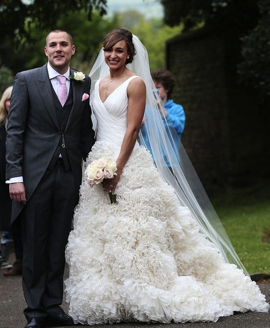 Jessica Ennis wedding dress
