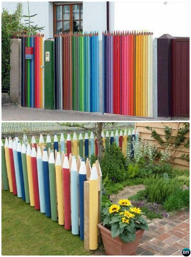 20 backyard garden fence decoration makeover diy ideas for Decorative fence ideas