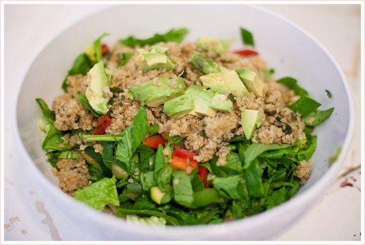 A Meatless Mess Blog - Quinoa Fajita SaladCilantro Lim