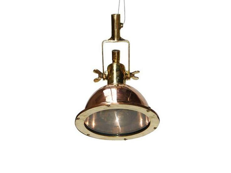 Manamah small copper cargo light by mullan lighting