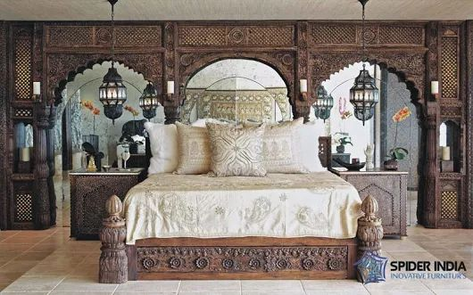 Antique & Vintage Beds,Indian Low Pillar Bed Manufacturers, beds