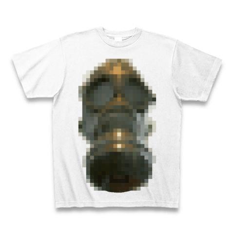 モザイク ガスマスク Tシャツ(ホワイト)
