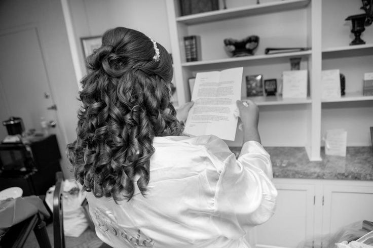 Prom hair half up half down back view