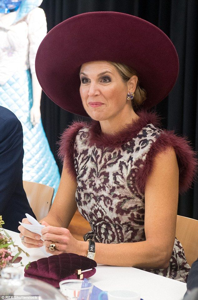 Known for her adventuruous approach to fashion Queen Maxima made a bold fashion statement ...
