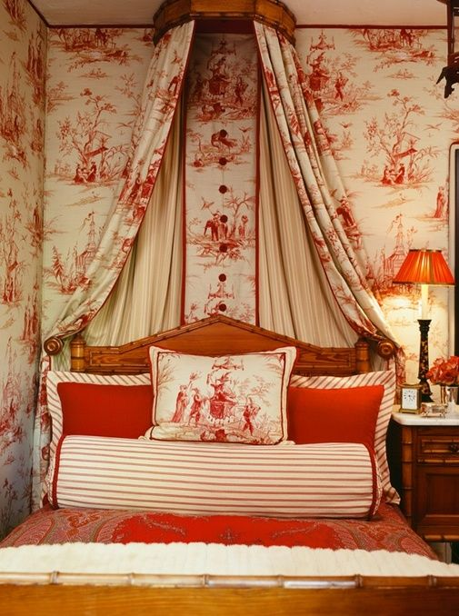 Attractive Martyn Lawrence Bullard   Red Toile De Jouy Red And White Z